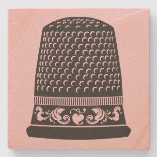Thimble by FiberFlies Stone Coaster