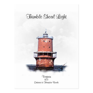 THIMBLE SHOAL LIGHT POSTCARD