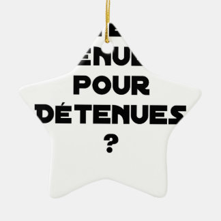 THIN BEHAVIOURS FOR HELD? - Word games Ceramic Ornament
