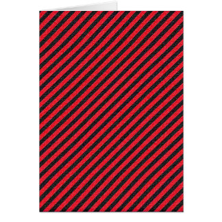 Thin Black and Red Diagonal Stripes Card