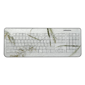 Thin blades of grass photo of Japanese rice paper Wireless Keyboard