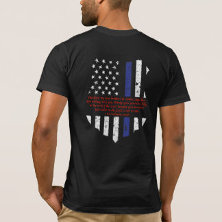 Thin Blue Line 1 Corinthians 15:58 T-Shirt