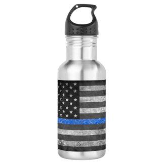 Thin Blue Line 532 Ml Water Bottle