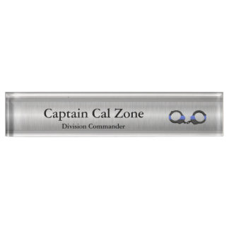 Thin Blue Line - .999 Silver Look Nameplate