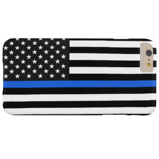 Thin Blue Line American Flag Barely There iPhone 6 Plus Case