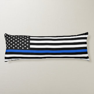Thin Blue Line American Flag Body Pillow