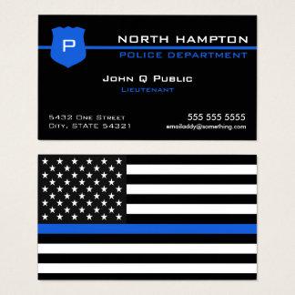 Thin Blue Line American Flag Business Card