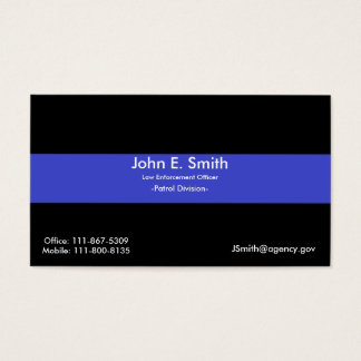 Thin Blue Line/American Flag Business Card