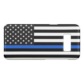 Thin Blue Line American Flag Case-Mate Samsung Galaxy S8 Case