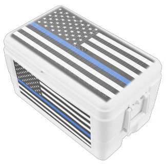 Thin Blue Line American Flag Chest Cooler