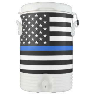 Thin Blue Line American Flag Drinks Cooler