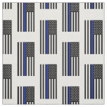 Thin Blue Line American Flag Fabric