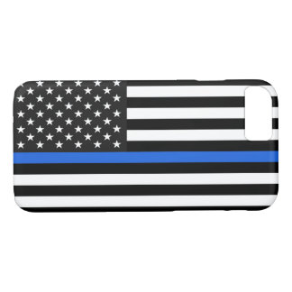 Thin Blue Line American Flag iPhone 8/7 Case
