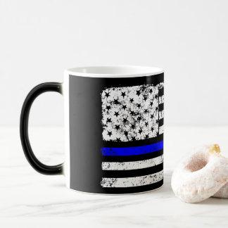 thin blue line american flag - Morphing Mug