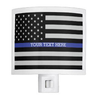 Thin Blue Line - American Flag Night Lite