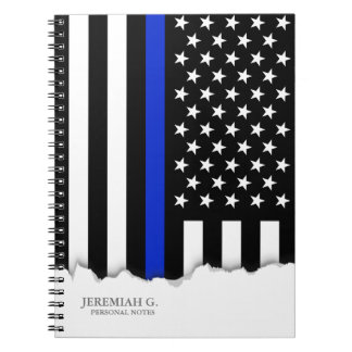 Thin Blue Line American Flag Notebooks