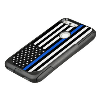 Thin Blue Line American Flag OtterBox Commuter Google Pixel Case