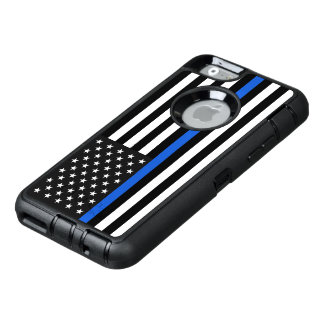 Thin Blue Line American Flag OtterBox Defender iPhone Case