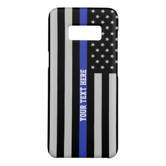 Thin Blue Line - American Flag Personalized Custom Case-Mate Samsung Galaxy S8 Case
