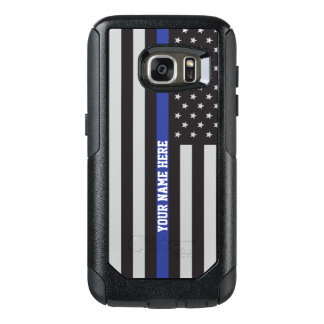 Thin Blue Line - American Flag Personalized Custom OtterBox Samsung Galaxy S7 Case