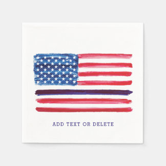 Thin Blue Line American Flag Police Officer Napkin