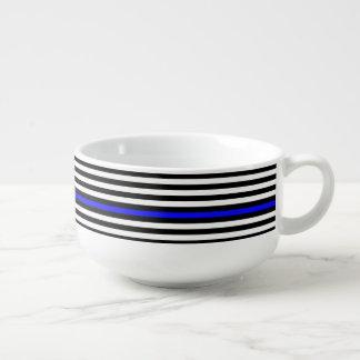 Thin Blue Line - American Flag Soup Mug