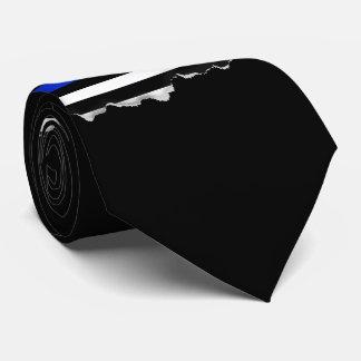 Thin Blue Line American Flag Tie