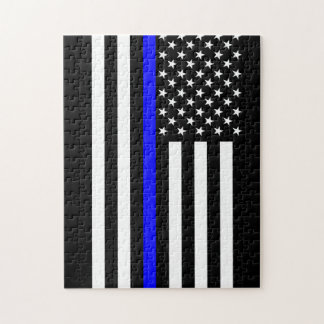 Thin Blue Line American Style Jigsaw Puzzle