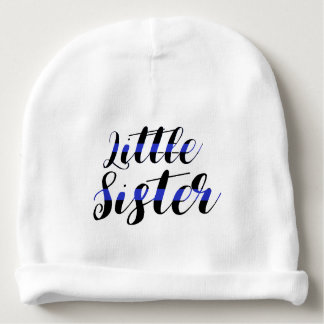 Thin Blue Line Baby Little Sister Police Hat Baby Beanie