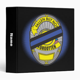 Thin Blue Line Badge Binder