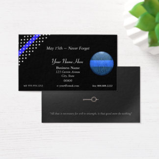 Thin Blue Line Beautiful St. Michael Police Business Card