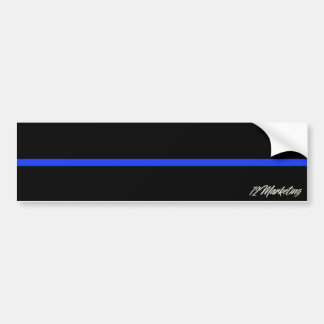 Thin Blue Line Bumper Sticker Police Officer