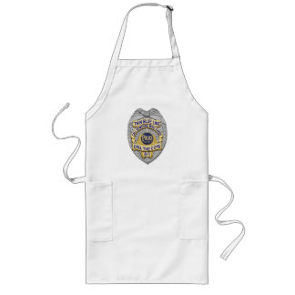 Thin Blue Line - Call someone who cares! Long Apron