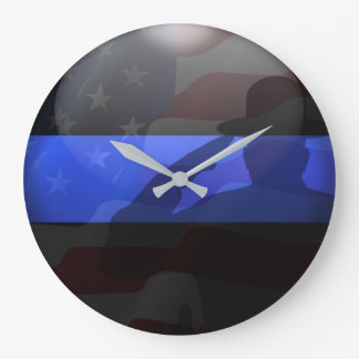 Thin Blue Line Campaign Hat Flag Salute Clocks