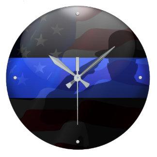 Thin Blue Line Campaign Hat Flag Salute Wallclocks
