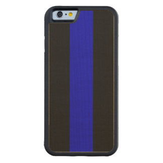 Thin Blue Line Carved Maple iPhone 6 Bumper Case