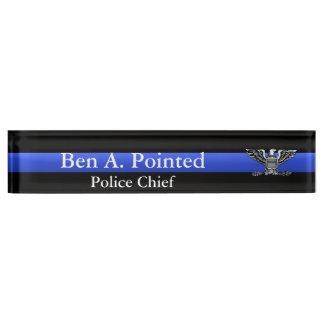 Thin Blue Line - Chief Full Bird Eagle Rank Name Plates