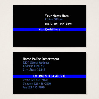 Thin Blue Line Contact Business Card