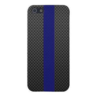 Thin Blue Line Custom Carbon Fibre Case For The iPhone 5