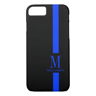 Thin Blue Line Custom Monogram iPhone 7 Case