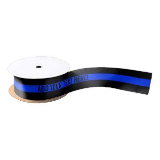 Thin Blue Line Custom Text Ribbon Satin Ribbon