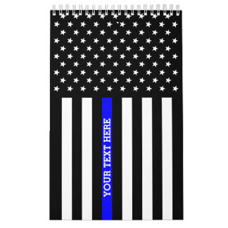 Thin Blue Line (DOUBLE SIDED, And All Pages) Wall Calendars
