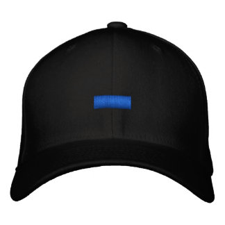Thin Blue Line Embroidered Hat