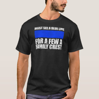 Thin Blue Line Family Crest T-Shirt