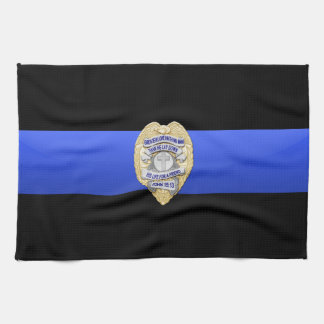 Thin Blue Line Flag & Badge Kitchen Towel
