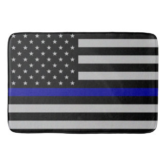 Thin Blue Line Flag Bathroom Mat