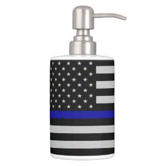 Thin Blue Line Flag Bathroom Set