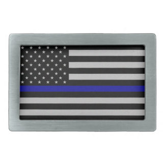 Thin Blue Line Flag Belt Buckle