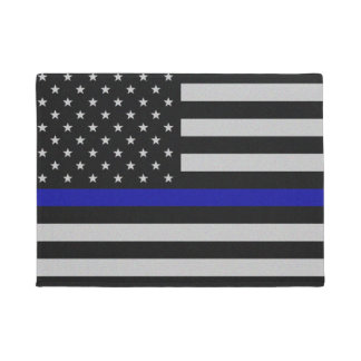 Thin Blue Line Flag Doormat