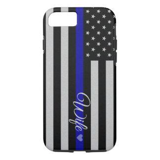 Thin Blue Line Flag iPhone 8/7 Case